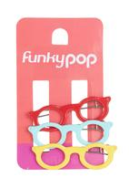 FUNKY FISH - Girls Hairclips with Sunglasses Multi-colour