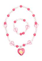 Character Fashion - Barbie Necklace and Bracelet Mid Pink