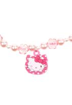 Character Fashion - Hello Kitty Necklace and Bracelet Mid Pink