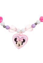 Character Fashion - Minnie Mouse Necklace and Bracelet Mid Pink