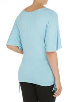 Annabella - Butterfly Top with side tie- Periwinkle Bluey Blue (pale blue)