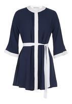 RUFF TUNG - Kimono Shirt Blue/White
