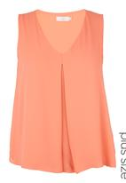 edit - V-neck Blouse Coral