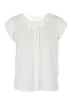 edit - Blouse With Bow White