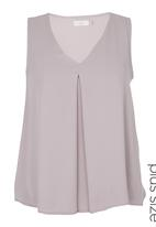 edit - V-neck Blouse Lilac
