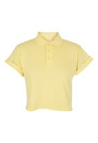 BellField - Cropped pique top Yellow