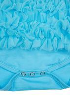 Smitten - Ruffle romper Turquoise
