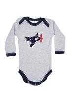 Home Grown Africa - Babygro With Aeroplane Grey