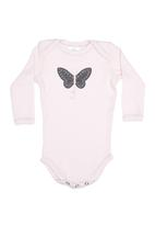 Home Grown Africa - Babygro Embroidery Pale Pink