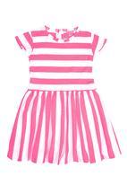 Sam & Seb - Striped Dress Mid Pink