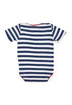 Sam & Seb - Striped Onesie Blue/White