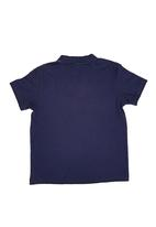 POLO - Printed Henley T-Shirt Navy