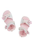 Brats - Sandals with floral detail Mid Pink