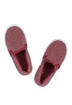 Brats - Glitter Slip On's Dark Pink