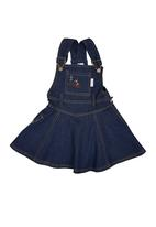 Portchie Gear - Dungaree Dress Dark Blue Black Denim