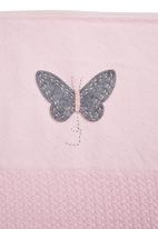 Home Grown Africa - Blanket With Butterfly Pale Pink