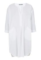 JUST CRUIZIN - Painter Style Long Shirt White