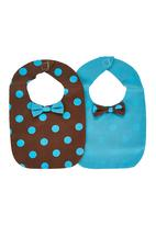 Jodi Deerling - Set of 2 Bibs With Bow Detail Multi-colour