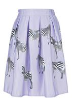 STYLE REPUBLIC - Zebra-print Hoop Skirt Pale Purple