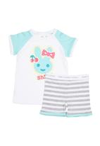 Home Grown Africa - Girls PJ Set With Bunny Print
