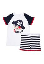 Home Grown Africa - Boys PJ Set With Pirate Multi-Colour