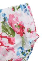 Sam & Seb - Rosy Floral Dress With Flutter Sleeves Multi-Colour
