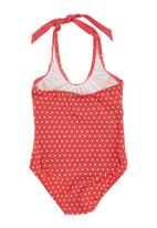 Lu-May - 1-piece Polka-dot Costume Red