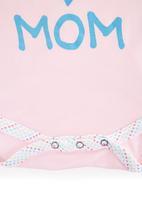 Precioux - Girls Babygro With Placement Print Dark Pink