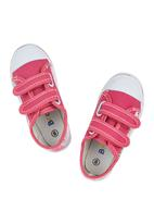 Brats - Sneaker With Velcro Strap Mid Pink