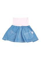 Precioux - Girls Denim Skirt Mid Blue