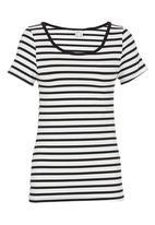 Carly Tod - Striped T-shirt Black/White