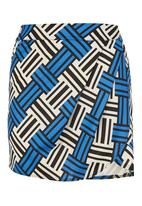 GOOD CLOTHING - Draped Mini Skirt Multi-colour