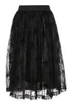 Clive Rundle - Box Pleat Skirt Black