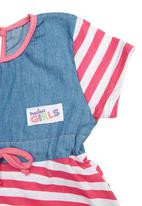 Precioux - Girls Multi-Print Tiered Dress Multi-Colour