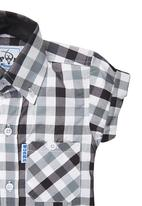 Precioux Bucks - Boys Check Shirt Black/White