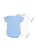 Precioux Bucks - 2-Pack Boys Babygro Dark Blue