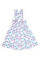 Sam & Seb - Crossover Back Dress With Hearts Navy