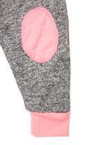 Sam & Seb - Melange Fleece Track Pants With Neon Trims Black