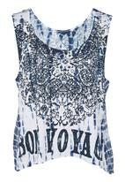 GUESS - Bon Voyage Crop Tank Multi-colour