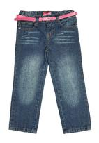 Twin Clothing. - Denims With Belt Mid Blue