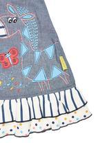 Hooligans - Dancing Zebra Chambray Knit Dress Multi-Colour