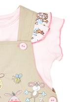 Hooligans - Pinafore Dress Set Multi-Colour