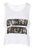 SASS - Fashion Victim Tank White