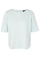 STYLE REPUBLIC - Floral Boxy Top Turquoise