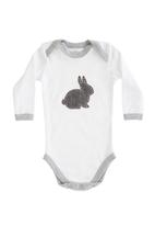 Home Grown Africa - Babygro with Bunny White