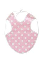 Home Grown Africa - Girls Bib with Polka-dots Pale Pink