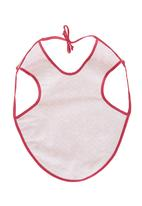 Home Grown Africa - Girls Bib with Hearts Pale Pink