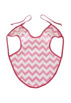Home Grown Africa - Girls Bib with Zigzag Design Pale Pink