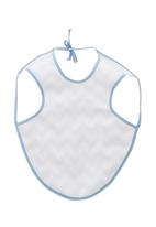 Home Grown Africa - Boys Bib with Zigzag Design Mid Blue
