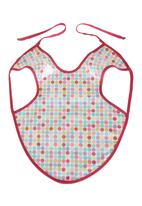 Home Grown Africa - Girls Bib with Multi-dot Print Pale Pink